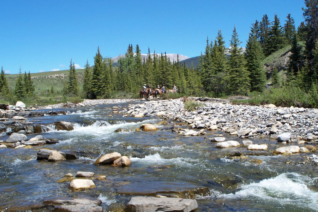 trail ride on bighorn creek
